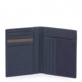 Vertical men's wallet with RFID antifraud prote