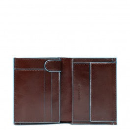 Vertical men's wallet with coin pocket, credit