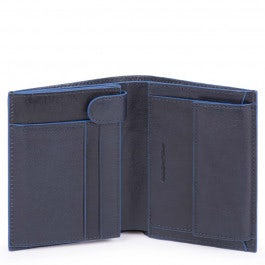Men's wallet with coin pocket, credit card facilit