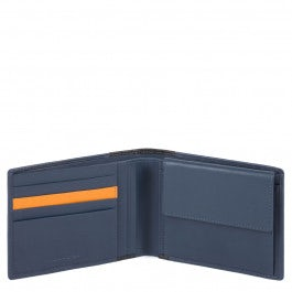 Herrenbrieftasche mit Münzfach und RFID-Blocker