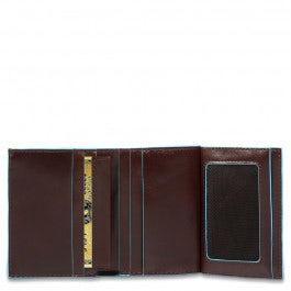 Vertical men's wallet with cre