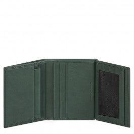 Herrenbrieftasche mit Ausweisfenster, Münz-