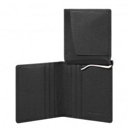 Vertical men's wallet with money clip