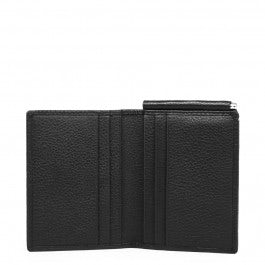 Men's vertical wallet with money clip