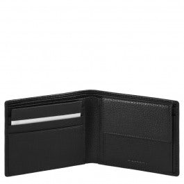 Men's wallet with coin case, credit card facility,