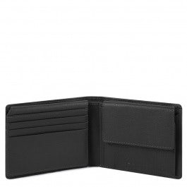 Men's wallet with flip up ID window, coin pocket