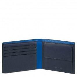 Men's wallet with flip up ID window, coin pocket