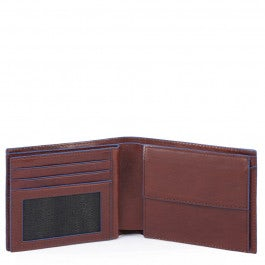 Men's flip wallet with coin case, credit card
