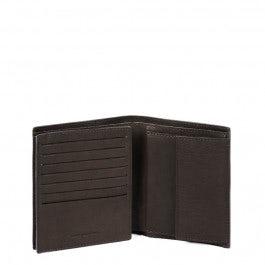 Vertical, flip men's wallet with coin case