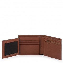 Men's wallet with flip out ID window, coin pocket