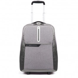 Cabin size trolley with stow-away shoulder pads