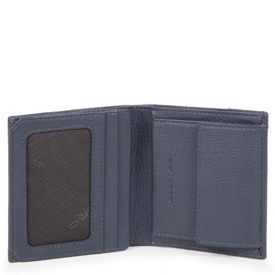 enorme sconto ef746 abc68 Portafoglio uomo pocket in pelle e tessuto - Wallets with ...