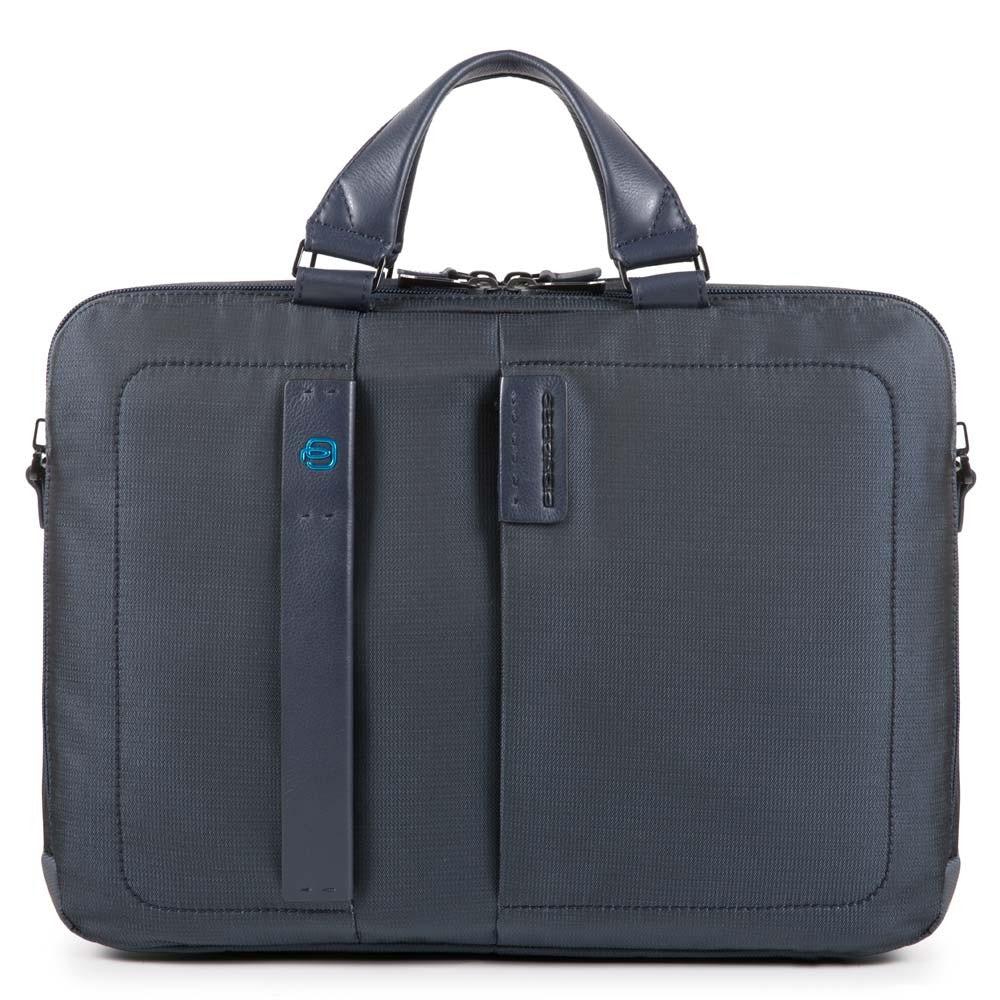 In E P16 Borsa Pelle Business Uomo Piquadro Blu Pulse