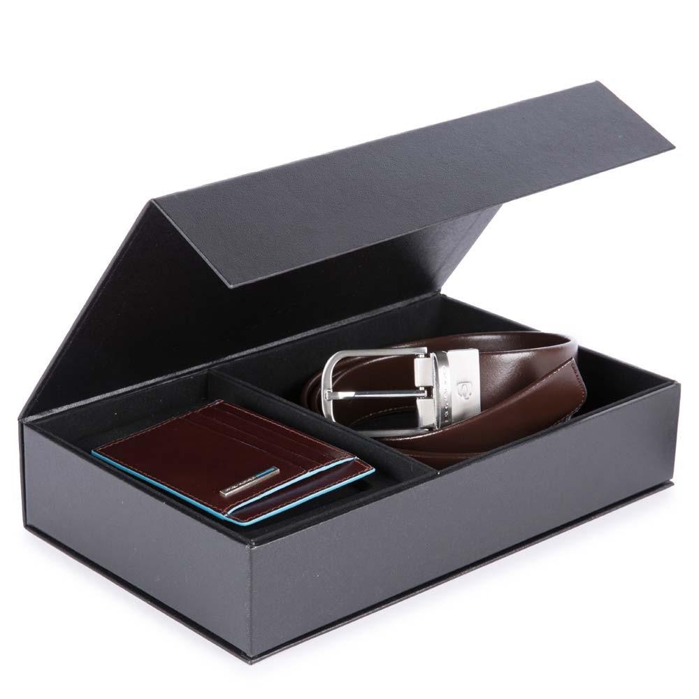 e6ea8fb66dc Boîte-cadeau avec ceinture homme CU4553B2 - Ceintures - Soldes homme ...