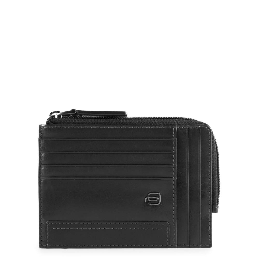 credit card holder with zip pocket cube