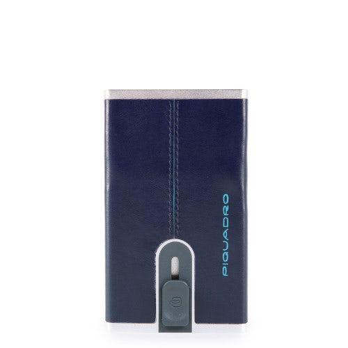 Porta tesserino per disabili custodia in pelle colore blu